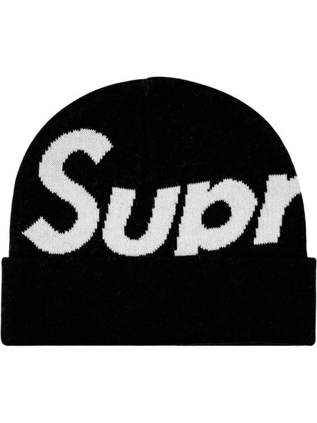Supreme Big Logo beanie hat in black
