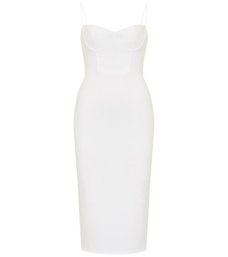 Alex Perry Lee stretch-crêpe midi dress in white