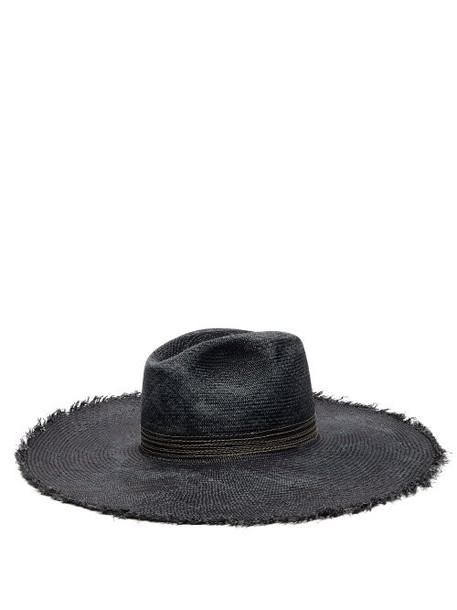 Filù Hats - Koh Samui Toquilla Straw Panama Hat - Womens - Navy
