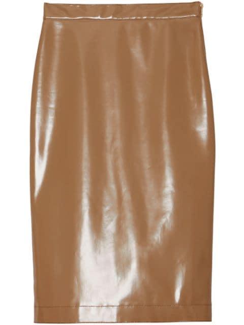 Burberry Vinyl Pencil Skirt - Farfetch
