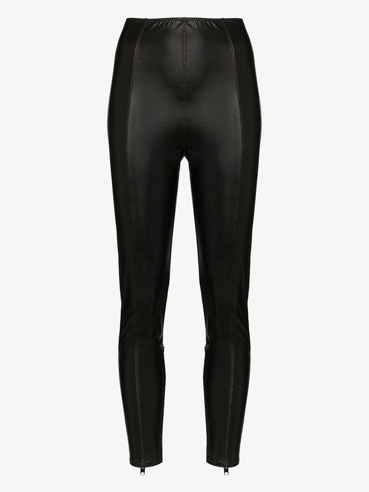 Lisa Marie Fernandez Karlie high waist faux leather leggings in black