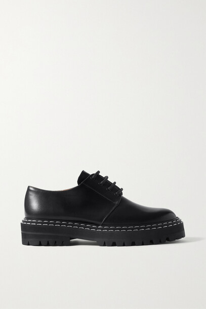 ATP Atelier - Maglie Leather Brogues - Black