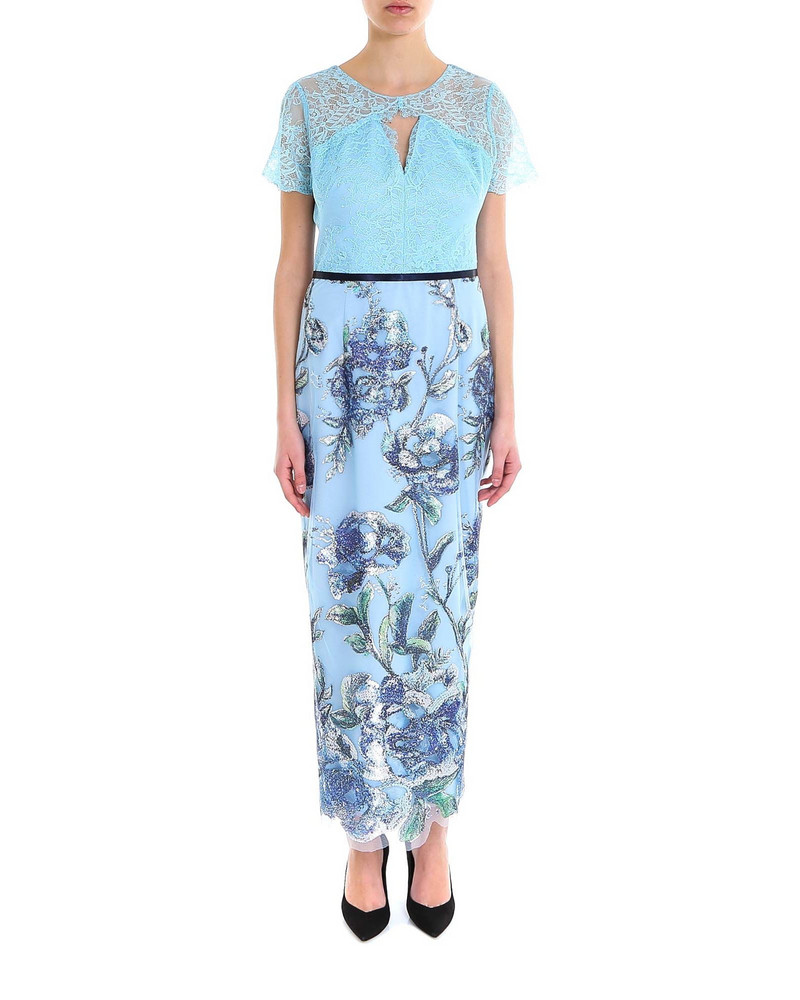 Marchesa Dress in blue