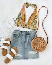 bag,skirt,shoes,underwear