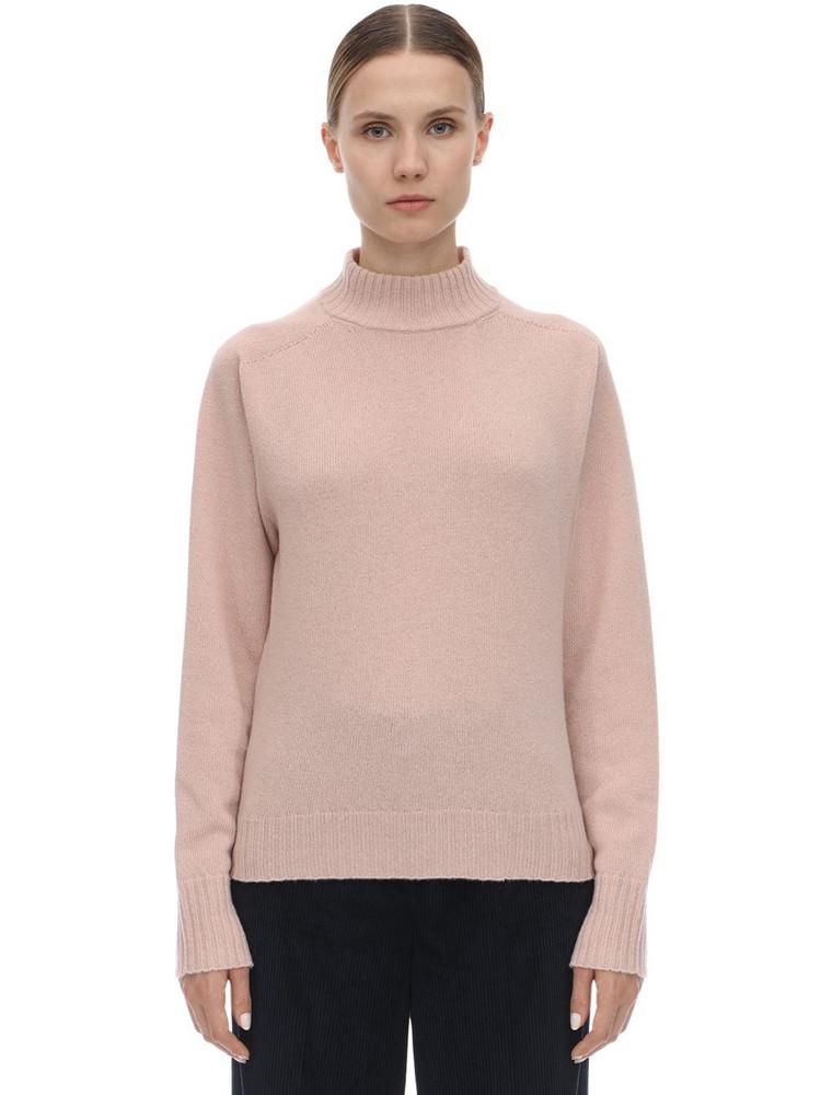 SPORTMAX Virgin Wool Knit Sweater in pink