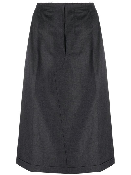 Maison Margiela high-waisted midi skirt in grey