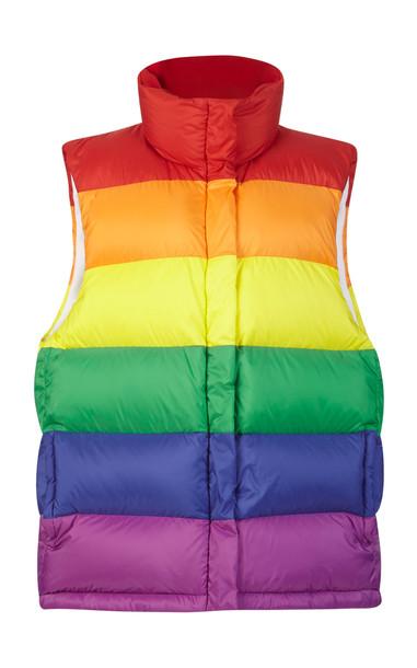 Burberry Rainbow Striped Puffer Vest in multi