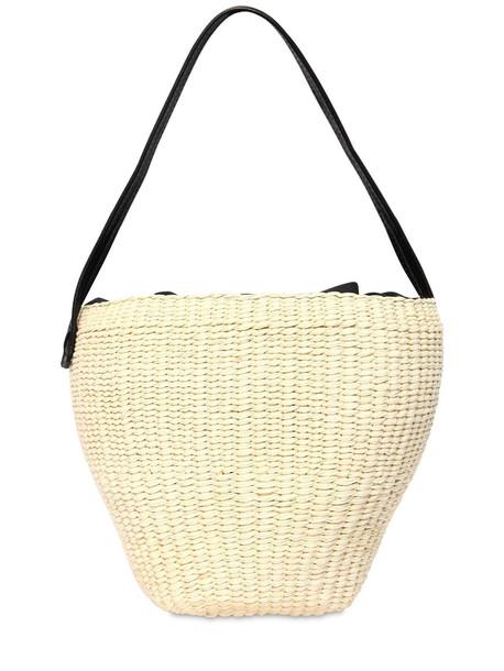 SENSI STUDIO Medium Straw Shoulder Bag in natural