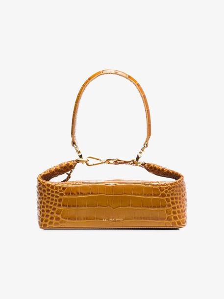 Rejina Pyo brown Olivia croc print leather shoulder bag
