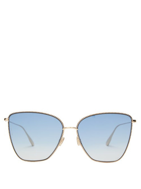 Dior Eyewear - Diorsociety1 Square Metal Sunglasses - Womens - Gold