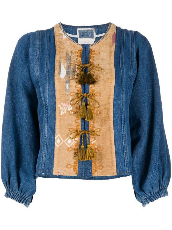 Forte Forte tassel-detail denim jacket in blue