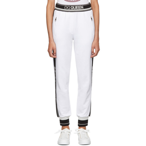 Dolce and Gabbana White Queen Lounge Pants