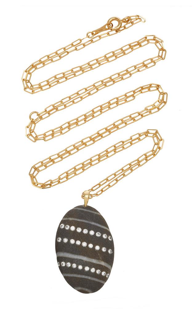 CVC Stones Aline 18K Gold, Diamond And Stone Necklace in black
