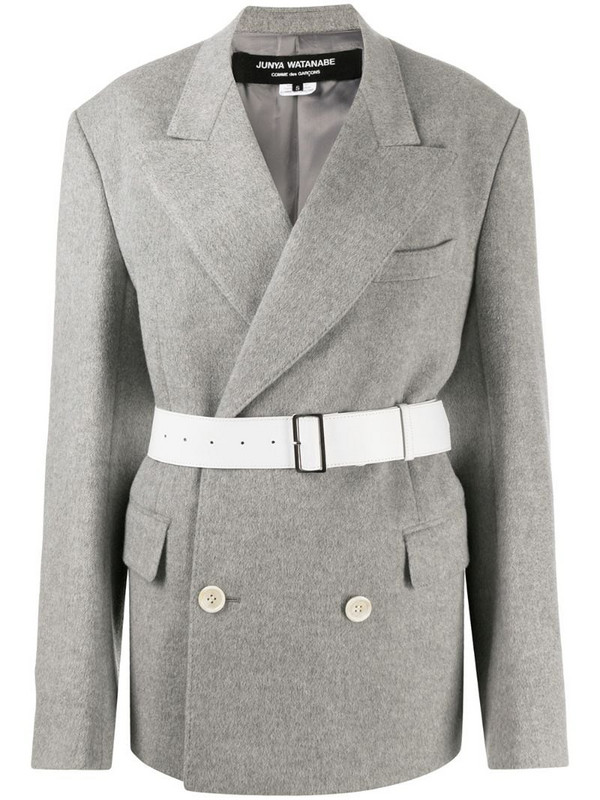 Junya Watanabe belted blazer coat in grey
