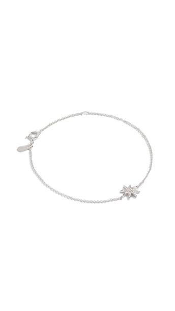 Adina Reyter Solid Pave Starburst Bracelet in silver