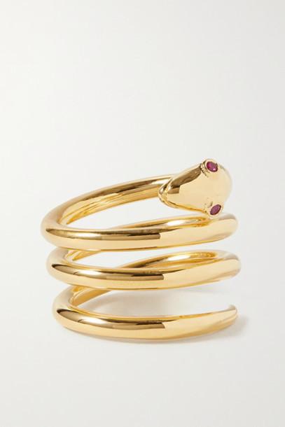 Sophie Buhai - Gold Vermeil Ruby Ring