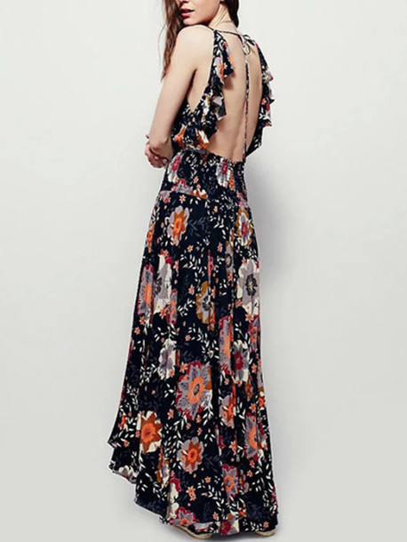 dress mynystyle boho floral summer dress maxi dress
