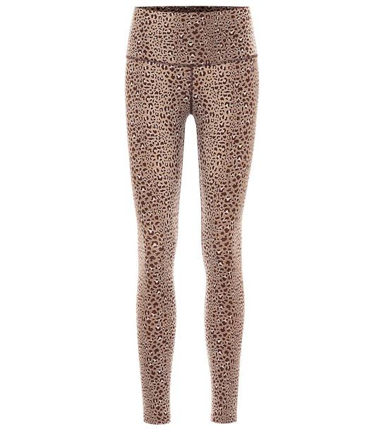 Varley Estrella printed leggings in brown