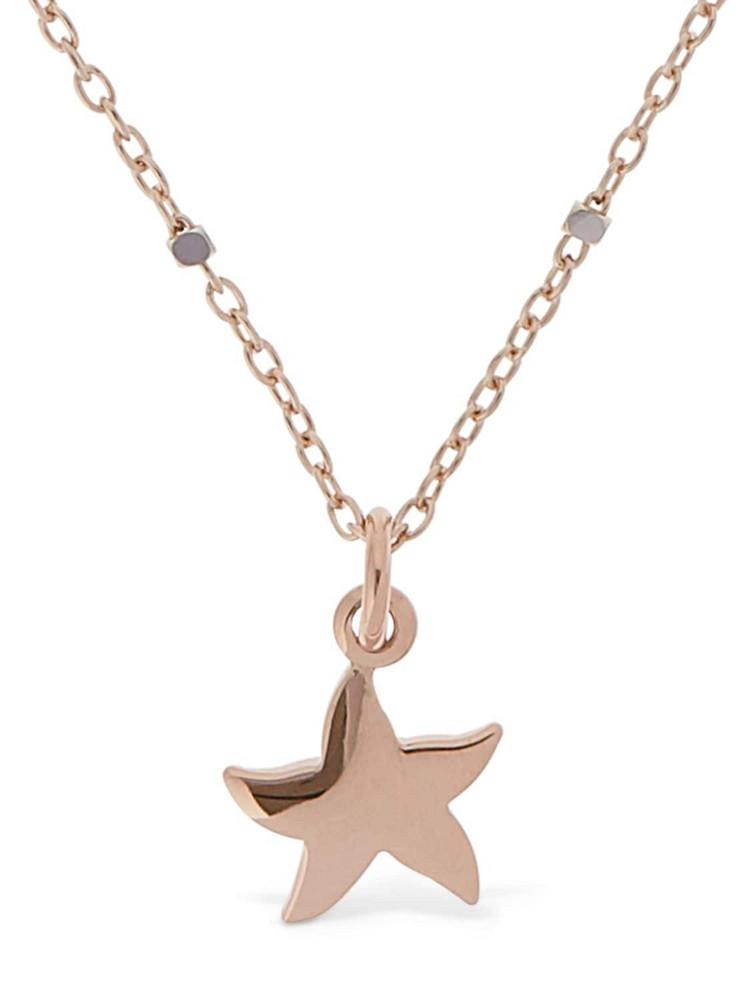 DODO 9kt Mini Stellina Short Necklace in gold / rose