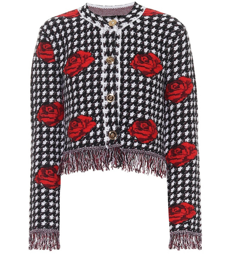 Versace Cropped wool jacket