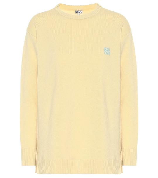 Loewe Wool sweater in yellow