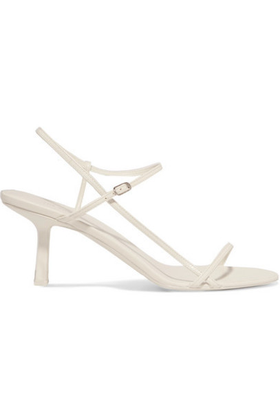 The Row - Bare Leather Sandals - White