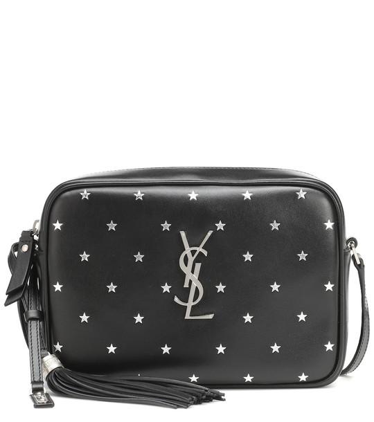 Saint Laurent Lou Camera leather crossbody bag in black