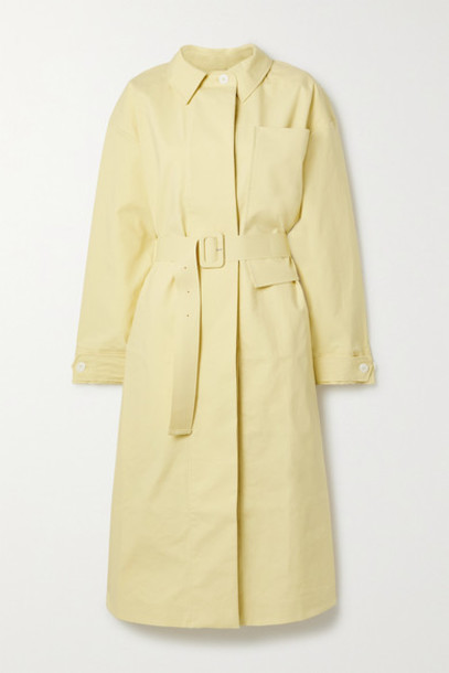 Jacquemus - Camiseto Belted Cotton Trench Coat - Pastel yellow