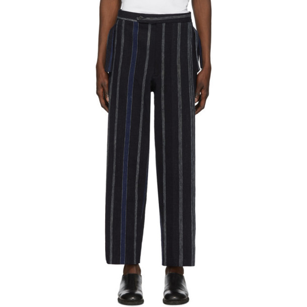 Bode Blue Striped African Trousers