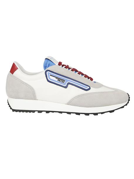 Prada Paneled Sneakers in white