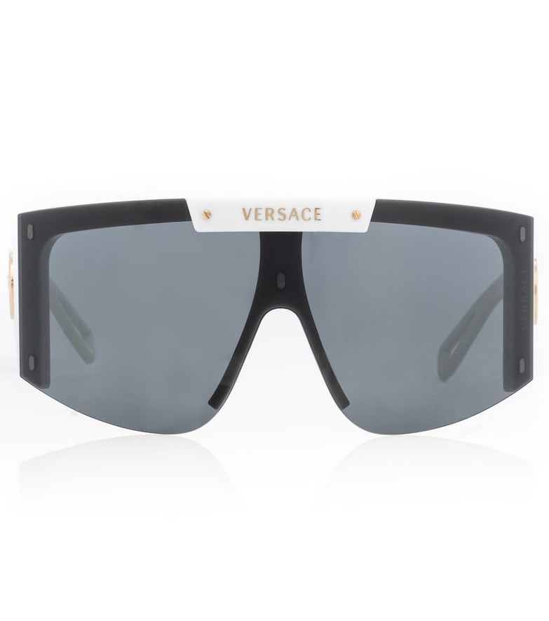 Versace Medusa Icon flat-brow sunglasses in white