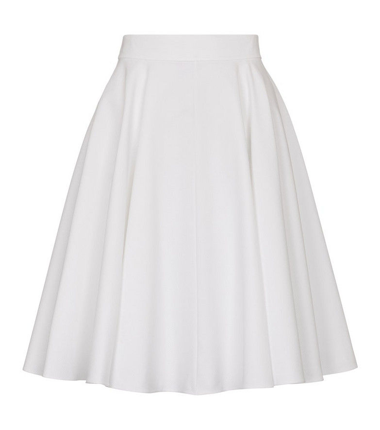 Alaïa Pleated cotton skirt in white