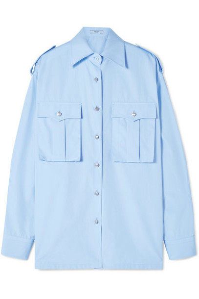 Prada - Cotton-poplin Shirt - Blue