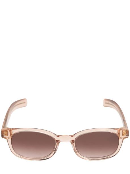 FLATLIST EYEWEAR Le Bucheron Acetate Sunglasses in grey / pink / clear