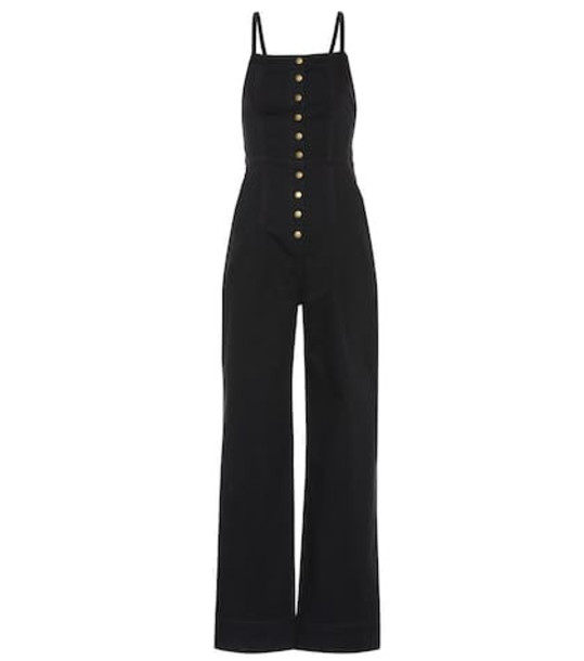 Ulla Johnson Elton denim jumpsuit in black
