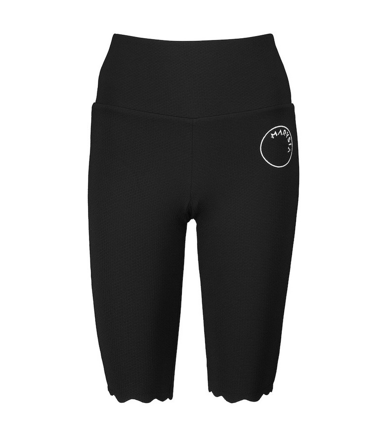 Marysia Iga high-rise stretch-jersey shorts in black