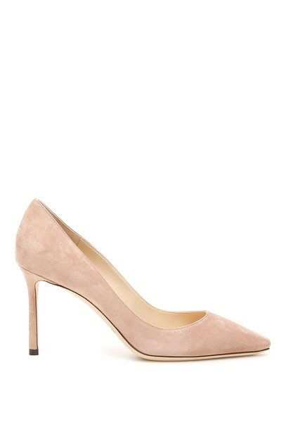 Jimmy Choo Suede Romy 85 Pumps in pink