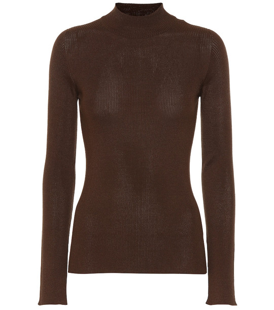 The Row Sulli silk and cotton sweater in brown