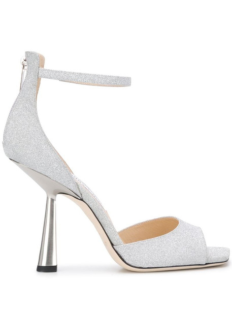 Jimmy Choo Reon 100mm sandals in silver