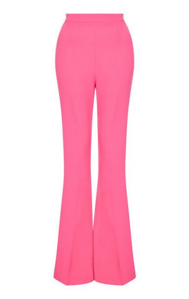 Safiyaa Hallie Heavy Crepe High-Waisted Pants in pink