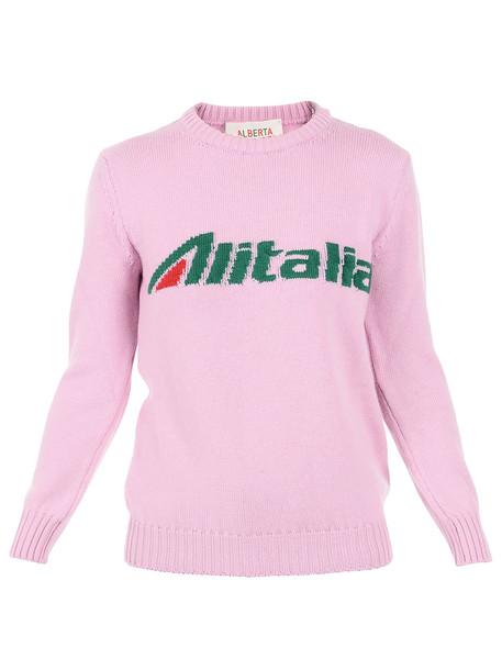 Alberta Ferretti Alitalia Sweater in pink