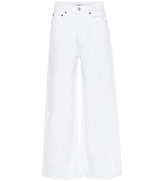 Re/Done 60s high-rise wide-leg jeans in white