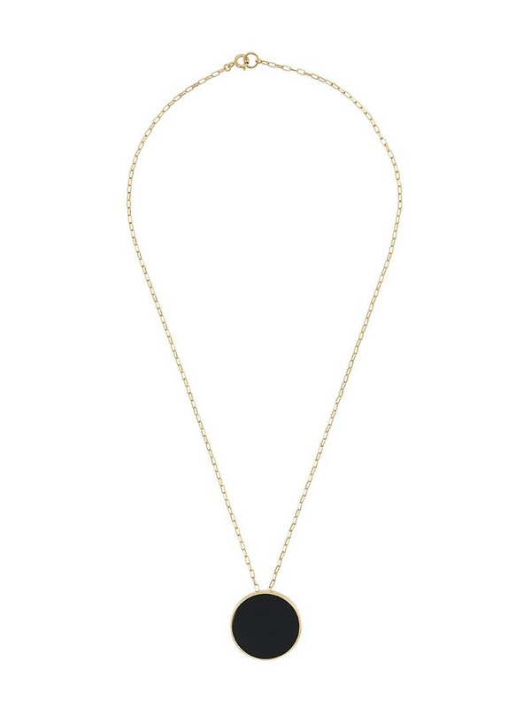 Isabel Marant gemstone circle necklace in black