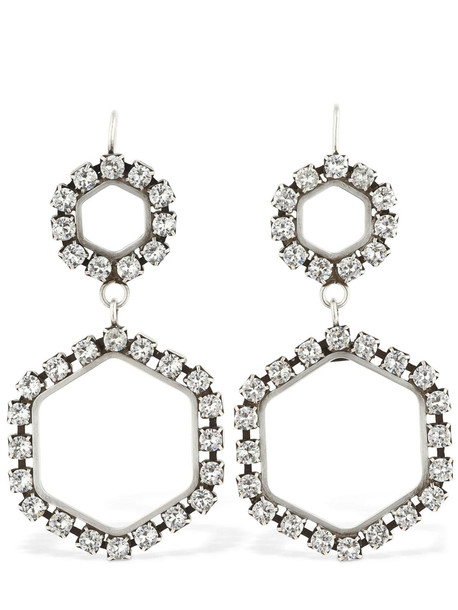 ISABEL MARANT Here It Is Crystal Earrings in silver
