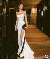 dress,prom dress,black dress,white
