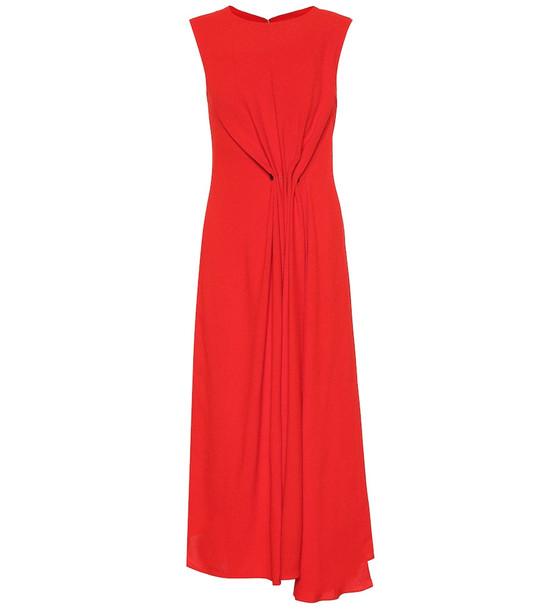Victoria Beckham Crêpe midi dress in red