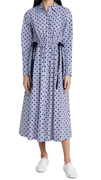 Jason Wu Polka Dot Shirt Dress in blue / multi