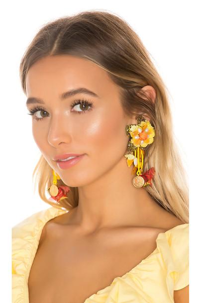 Ranjana Khan Spring Blossom Earring in yellow