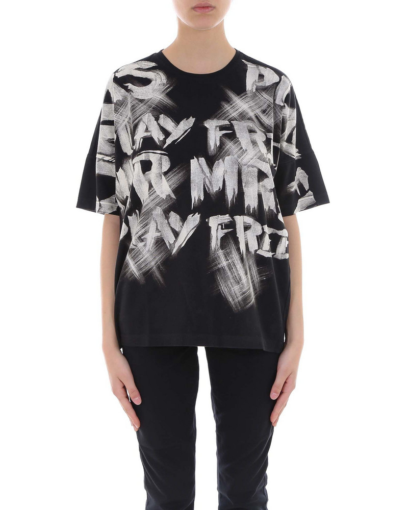 Mr & Mrs Italy T-shirt in black