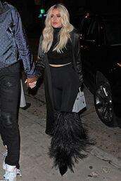 shoes,khloe kardashian,kardashians,celebrity,fringes,top,leggings
